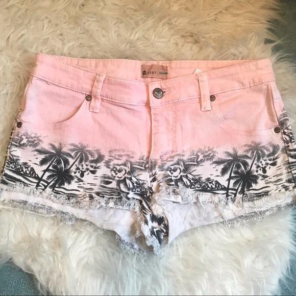 Roxy Pants - ROXY Patterned Denim Shorts